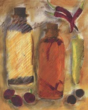 Peppers & Oil ll Print on Canvas by Tanya M. Fischer