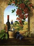 Patio View Print on Canvas by Fran Di Giacomo