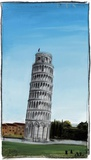 World Landmark Italy Print on Canvas by Paul Gibson