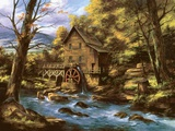 Rocky Creek Mill Print on Canvas by Rudi Reichardt