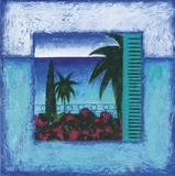 View Of Nice ll Print on Canvas by Francoise Persillon