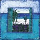 View Of Nice l Print on Canvas by Francoise Persillon