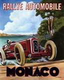 Monaco Rallye Print on Canvas by Chris Flanagan