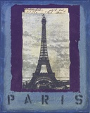 Paris Print on Canvas by Jan Weiss