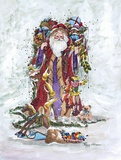 Christmas On Its Way Print on Canvas by Peggy Abrams