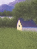 Summer Cottage Print on Canvas by Karen Jones