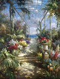 Tropical Breezeway Print on Canvas by James Reed