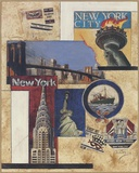 New York Collage Print on Canvas by Susan Osborne