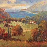 Tuscan Hill View Print on Canvas by K. Park