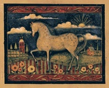 Farmhouse Horse Print on Canvas by Susan Winget