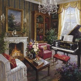 Grand Piano Room Print on Canvas by  Foxwell