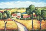 Hillside Villa Print on Canvas by Sarah Hagy Volker
