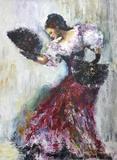 Dance Print on Canvas by Liana Goroian