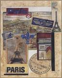 Paris Collage Print on Canvas by Susan Osborne