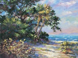 Tropic Glow Print on Canvas by  E. Wood
