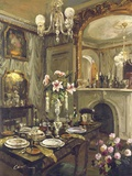 The Dining Room Print on Canvas by  Foxwell
