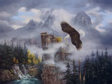 Eagle's Domain Print on Canvas by Rudi Reichardt