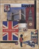 London Collage Print on Canvas by Susan Osborne