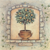 Lemons Topiary Print on Canvas by Susan Winget