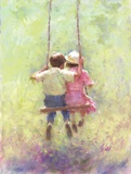 Summer Swing Print on Canvas by Richard Judson Zolan