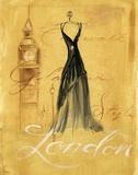 London Fashion Print on Canvas by Jennifer Sosik