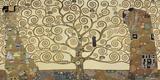 A Árvore da Vida Impressão em tela por Gustav Klimt