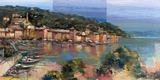 Portofino d'estate Print on Canvas by Luigi Florio