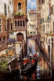 Italian Love Story Print on Canvas by James Lee