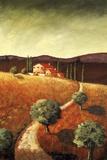 Tuscany Farmhouse I Print on Canvas by Santo De Vita