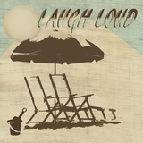 Laugh Loud Print on Canvas by Karen J. Williams