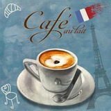 Cafe au lait Print on Canvas by Skip Teller