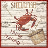 Fresh Seafood Print on Canvas by Karen J. Williams