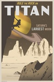 Rock Climbing on Titan Print on Canvas by Steve Thomas