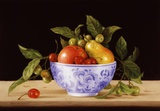 Apples, Cherries & Pear Print on Canvas by Patrick Farrell