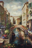 Venice Canal Print on Canvas by James Lee