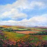 Across the Fields Impression sur toile par Jan E. Moffatt