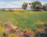 June Fields Print on Canvas by Jan E. Moffatt