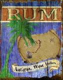 Antigua Rum Print on Canvas by Karen J. Williams