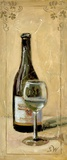 White Wine With Glass Print on Canvas by Shari White