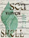 Sea Shell Green Print on Canvas by Karen J. Williams