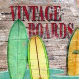 Vintage Surf Boards Print on Canvas by Karen J. Williams