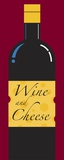Wine and Cheese Print on Canvas by Chris Reed