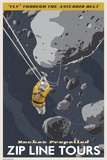 Zip Line Through the Asteroid Belt Print on Canvas by Steve Thomas