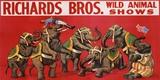 Richards Bros. Wild Animal Shows, ca. 1925 Reproducción en lienzo
