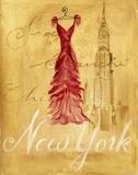 New York Fashion Print on Canvas by Jennifer Sosik