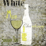 White Wine Print on Canvas by Karen J. Williams