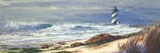 Light House Beach Print on Canvas by Michael R. Miller