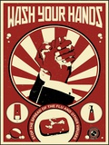Wash Your Hands Print on Canvas by Steve Thomas