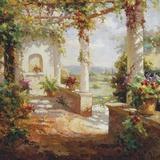 Pergola Flowers Print on Canvas by  Fabio