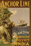 Gibraltar and India II Print on Canvas